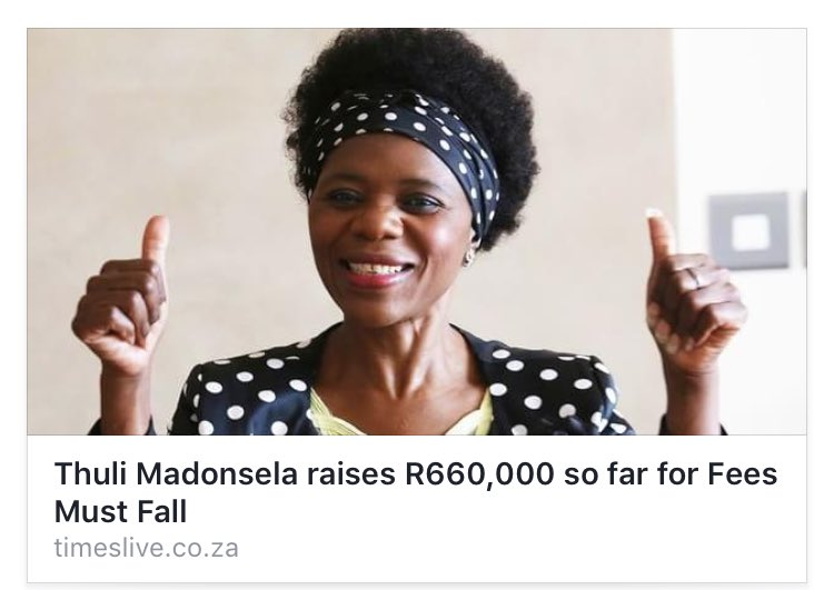 The kind of news I live to hear @ThuliMadonsela3 mama I love your work!!! https://t.co/096wdcB3ag
