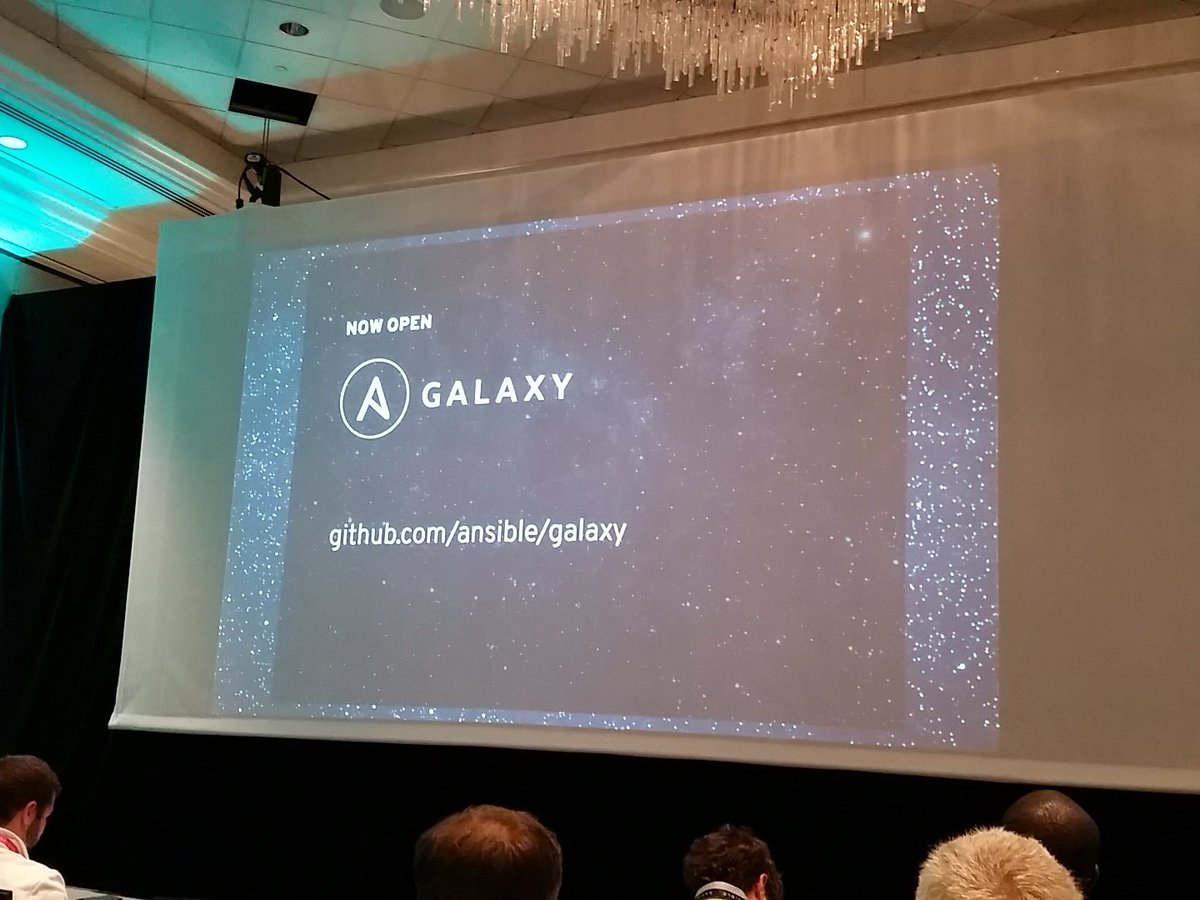 As of right now, @Ansible Galaxy is #opensource, you can download it and install it - @gregdek #ansiblefest https://t.co/5AUgUu464X