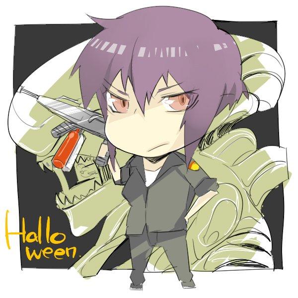 攻殻ハロウィン今年もちょっとずつ描いてくのでよろしくー!一発目はやっぱり少佐ですよね~