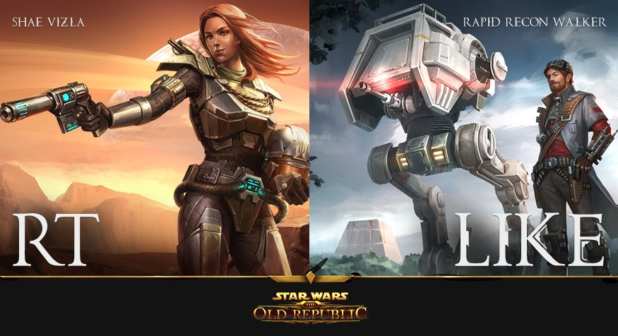 Which #EternalThrone Pre-order Reward are you most excited for?  RT: Shae Vizla Companion LIKE: Rapid Recon Walker https://t.co/uw9bgnl87P