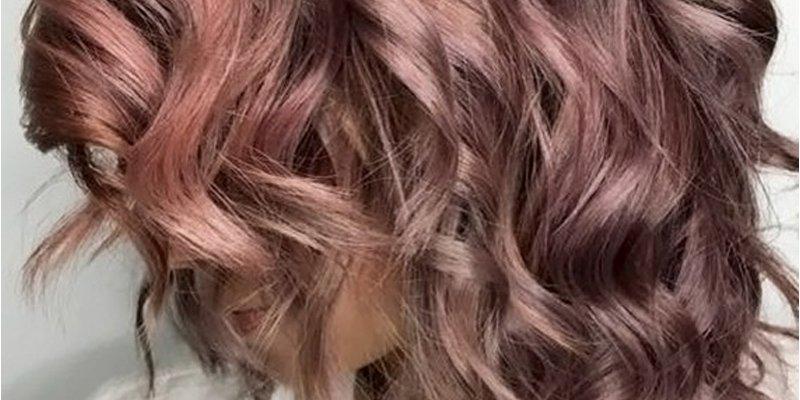 Chocolate mauve hair is the cool new rainbow hair color ...