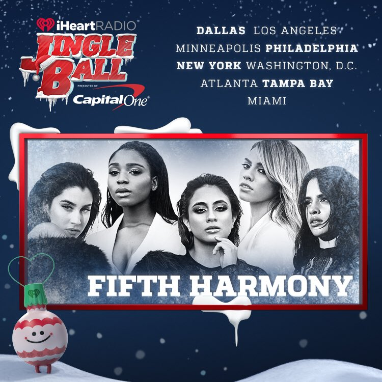 It's that time agaaaaain ❄️����☃️ we're joining @iHeartRadio on the 2016 Jingle Ball Tour!!!!! #iHeartJingleBall https://t.co/9D2FBaZb8Z
