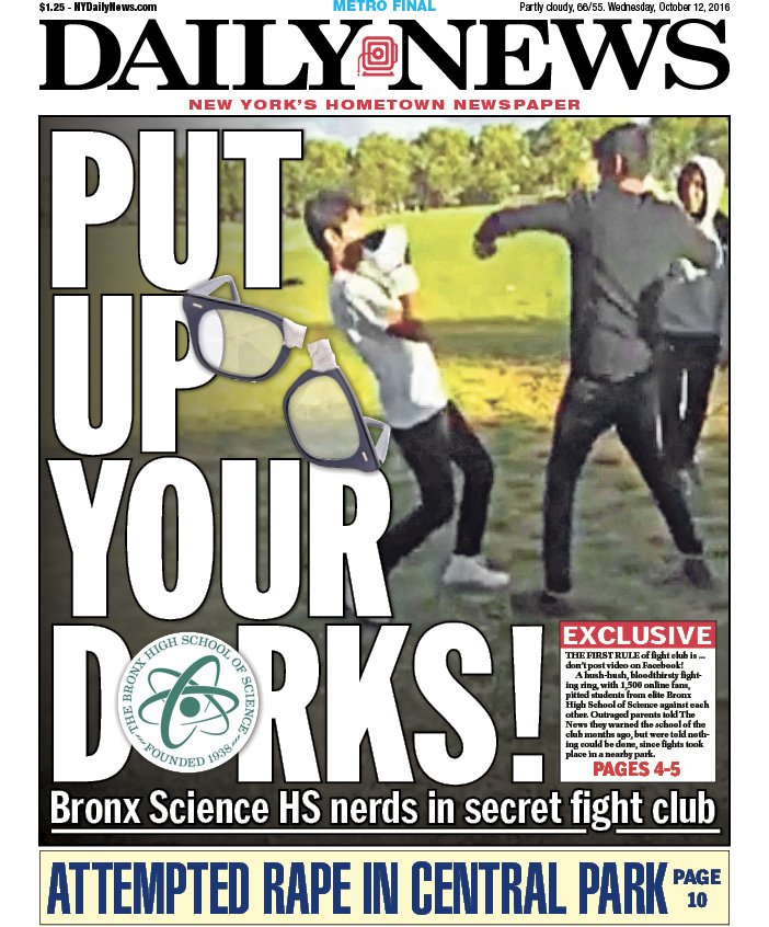 Image result for Put up Your Dorks NY Daily News