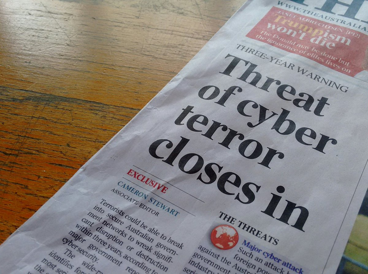 """The word """"cyber"""" is used 32 times in this article. *twitch* https://t.co/DOxKaYbEWs"""