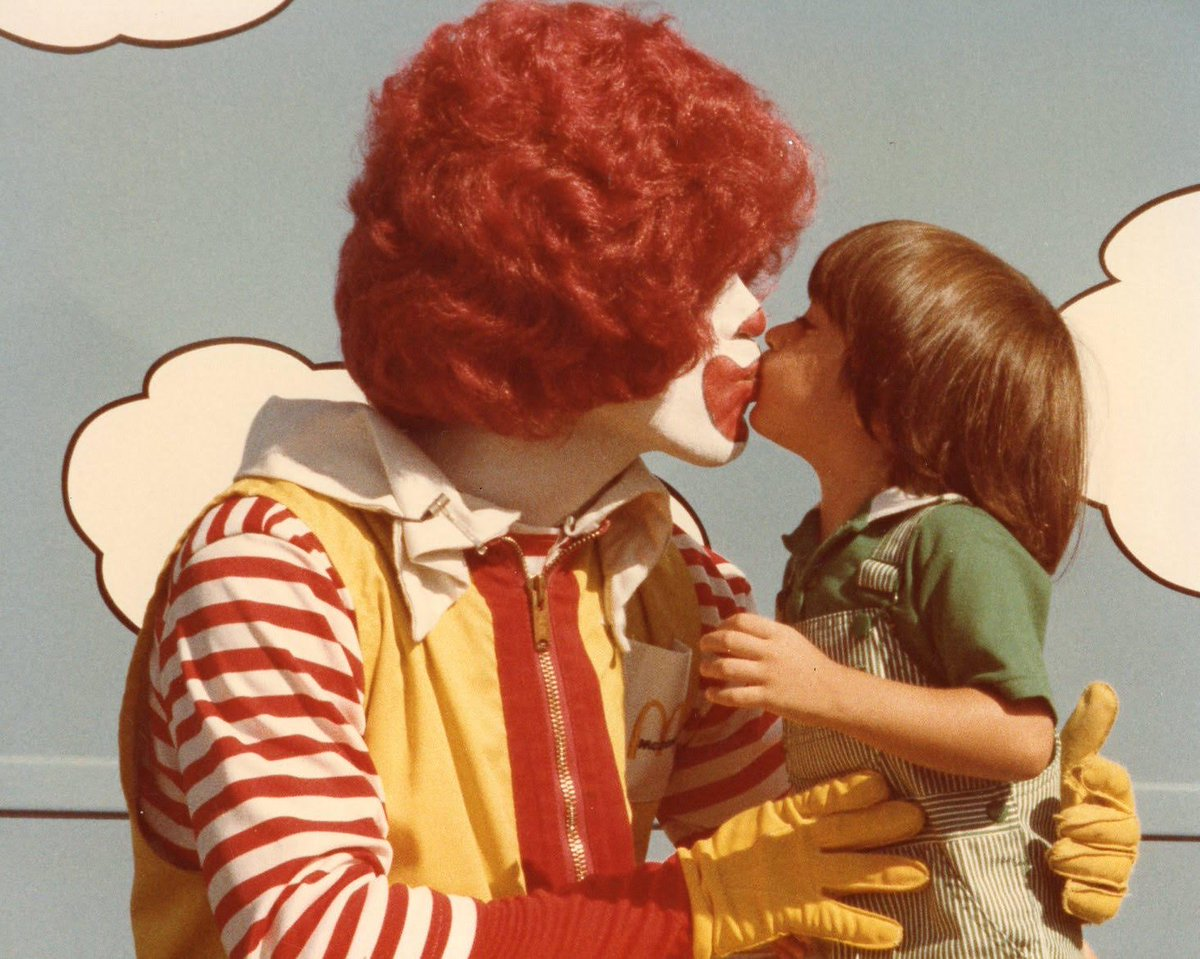 McDonald's announced they're getting rid of Ronald today. No better time to tweet this of me as a kid meeting him. https://t.co/9P5cGqoJhl