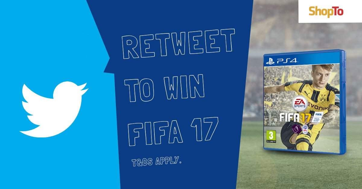 #RETWEET to #WIN a copy of #FIFA17 for your #PS4 | https://t.co/leK80fYeXZ https://t.co/FYyjA9MvDY