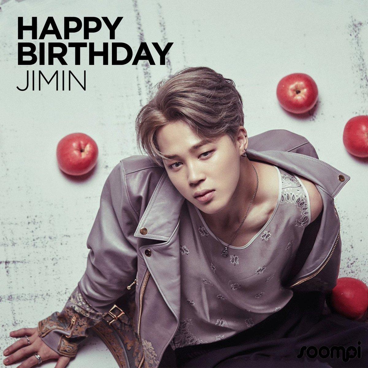 Happy Birthday to #BTS's Jimin! #HappyJiminDay #HappyJMDay https://t.co/XSSHat8MSI https://t.co/iqqh7AhRqW
