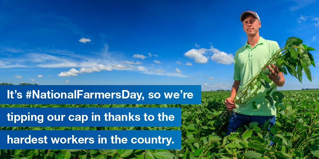 We appreciate all the work you do to put food on the table. #ThankAFarmer #NationalFarmersDay https://t.co/yYQYO7EONk