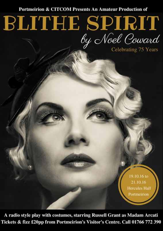 Russell Grant is bringing Noel Coward's Blithe Spirit to #Portmeirion - and will play the female lead! #theatre https://t.co/WxJnosoIy7