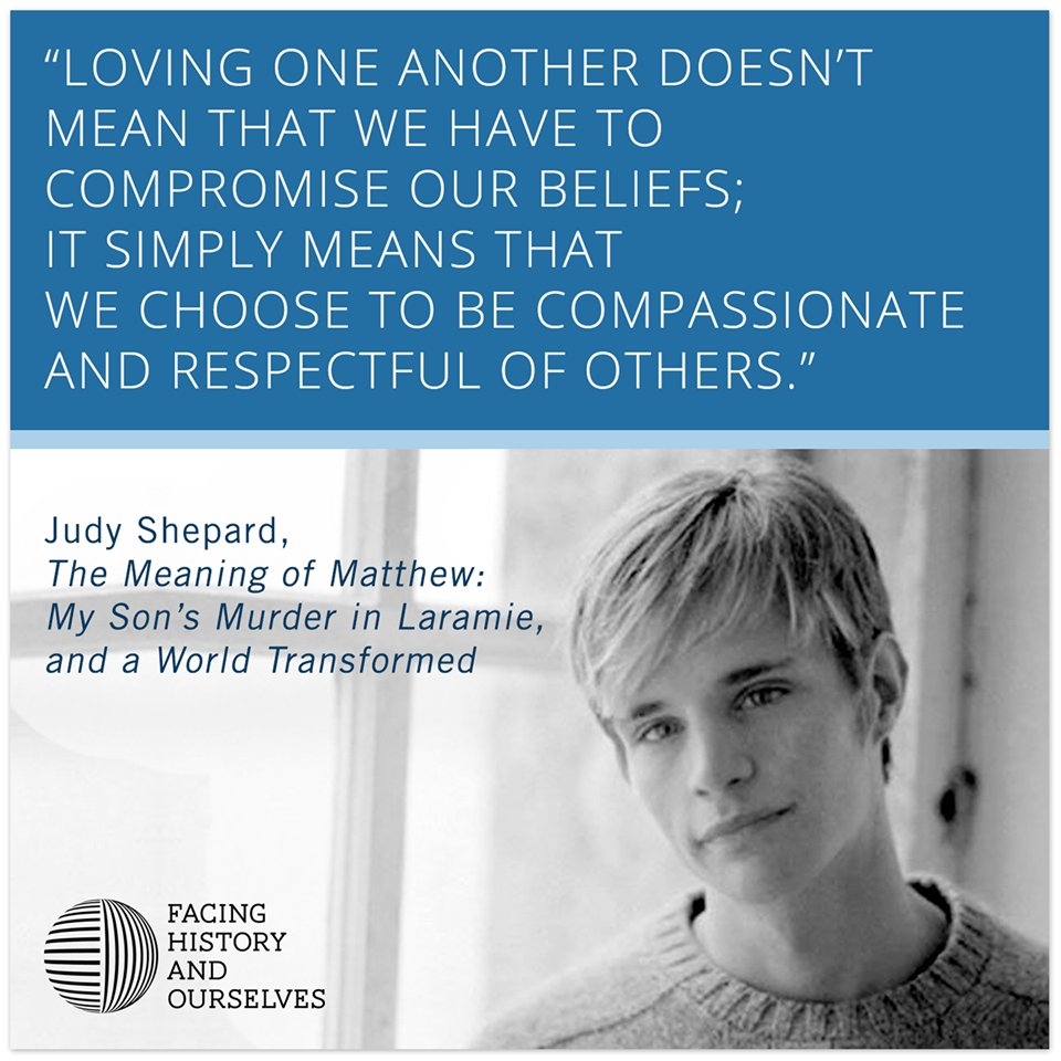 #OTD in 1998, #MatthewShepard died after being attacked in a anti-gay hate crime. @MattShepardFDN https://t.co/PF9vtwjbD7