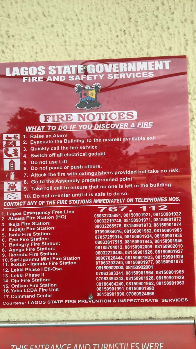 There are 17 fire stations in Lagos. Save a life. https://t.co/U3H6cj26Z4