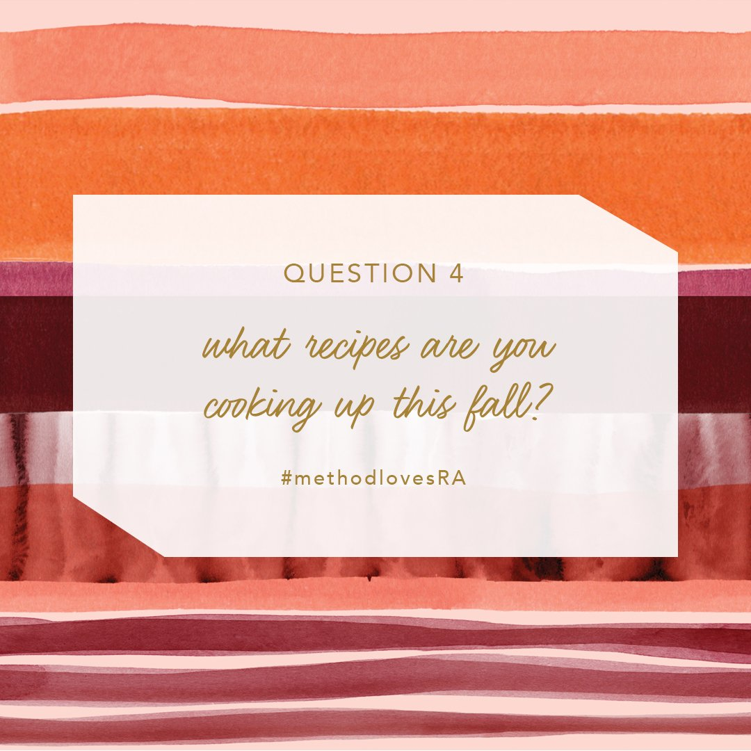 Q4) what kinds of recipes have you been making with seasonal ingredients? #methodlovesRA https://t.co/sHx2DRdjwf