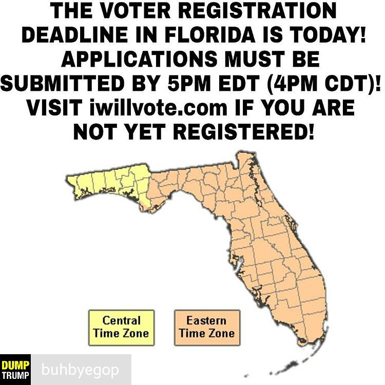 @Regrann from @buhbyegop  -  To all of the #Florida Residents, please make sure your registration to VOTE? https://t.co/wffmwoGFGK