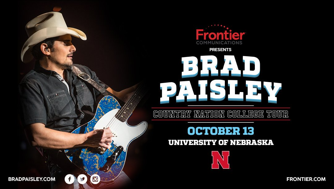 All the @BradPaisley fans in Lincoln, NE - get ready to party https://t.co/tOjtHhKcDE #ForFrontier #ad @FrontierCorp https://t.co/2TRyGAAewh