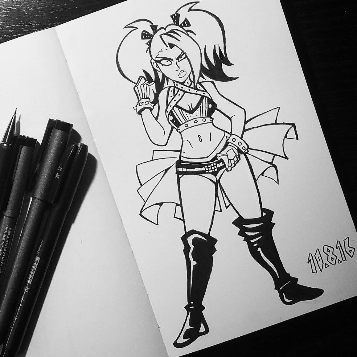 #Inktober Day 08  One of my favorites from the Smackdown brand, @AlexaBliss_WWE! https://t.co/QQ6iFznidC