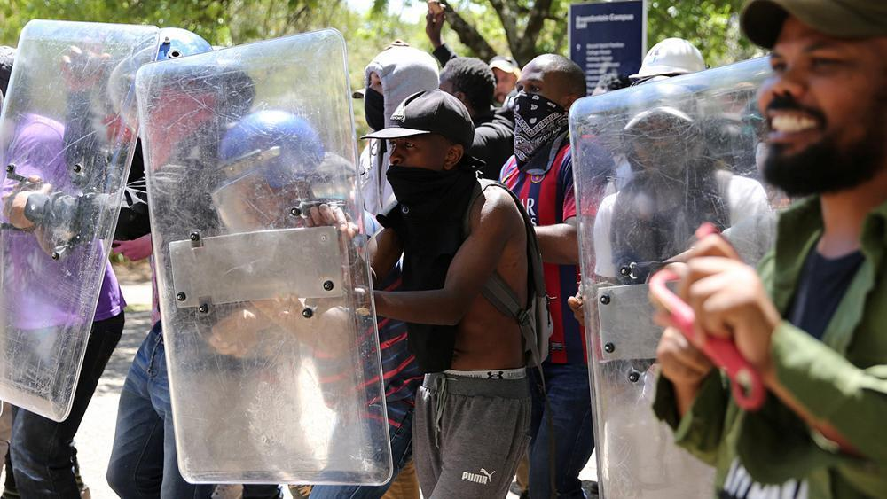 Police and students battle in Joburg as education crisis spirals