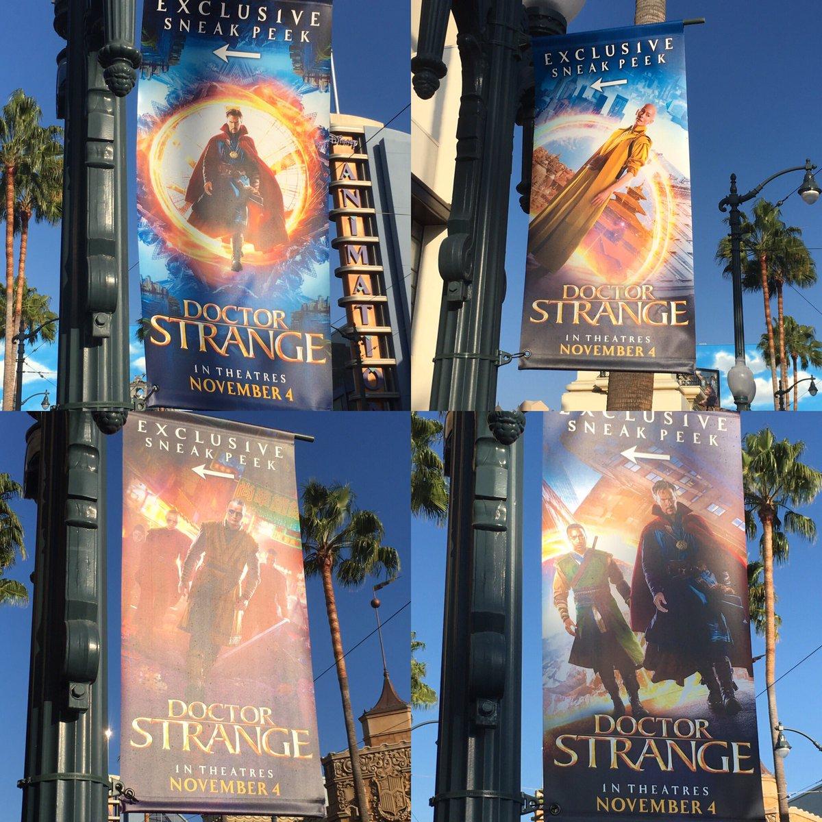 #DoctorStrange banners in #DCA #Marvel #Disneyland https://t.co/WRffaPGBuS