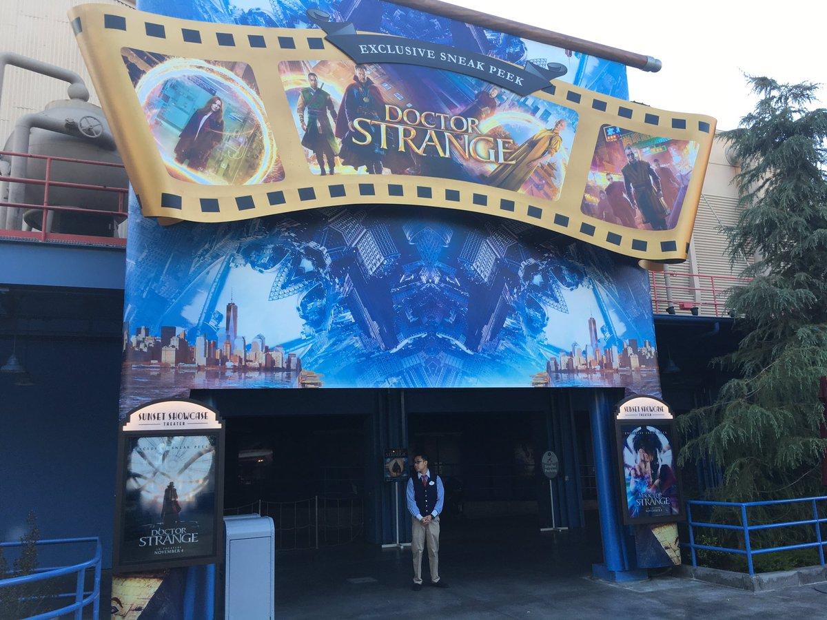 Heading in for the #DoctorStrange preview #DCA #Marvel #Disneyland https://t.co/AQgxWfz18g