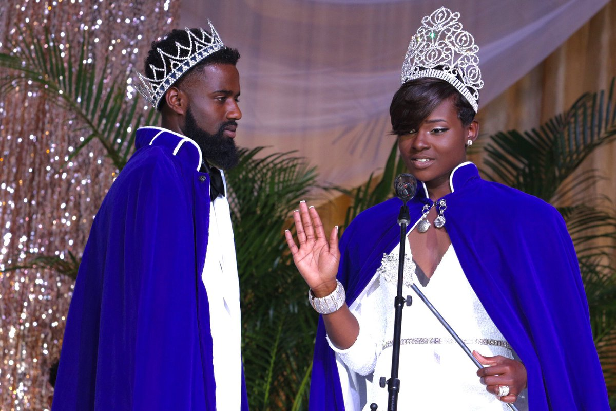 Mr. TSU (Jordan Gaither) and Miss TSU (Alicia Jones) take their oath of office at the 2016 Coronation Ceremony. https://t.co/8yj3aK22qb