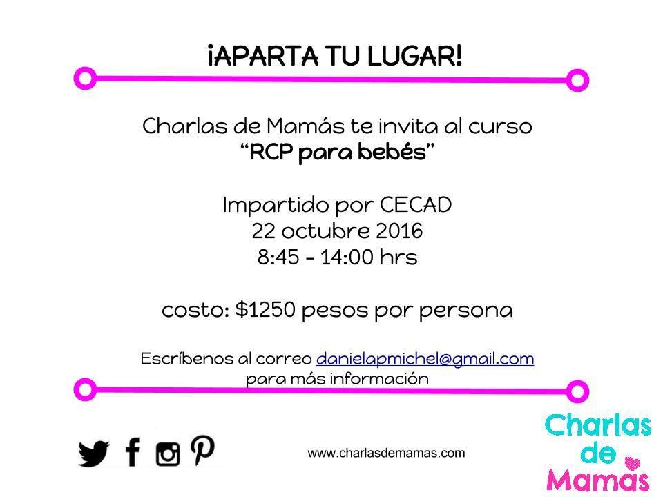 Y ustedes ya se inscribieron en el Taller de RCP para bebés de @charlasdemamas https://t.co/ZiBgrrGS1O https://t.co/tHiF6r3EMq