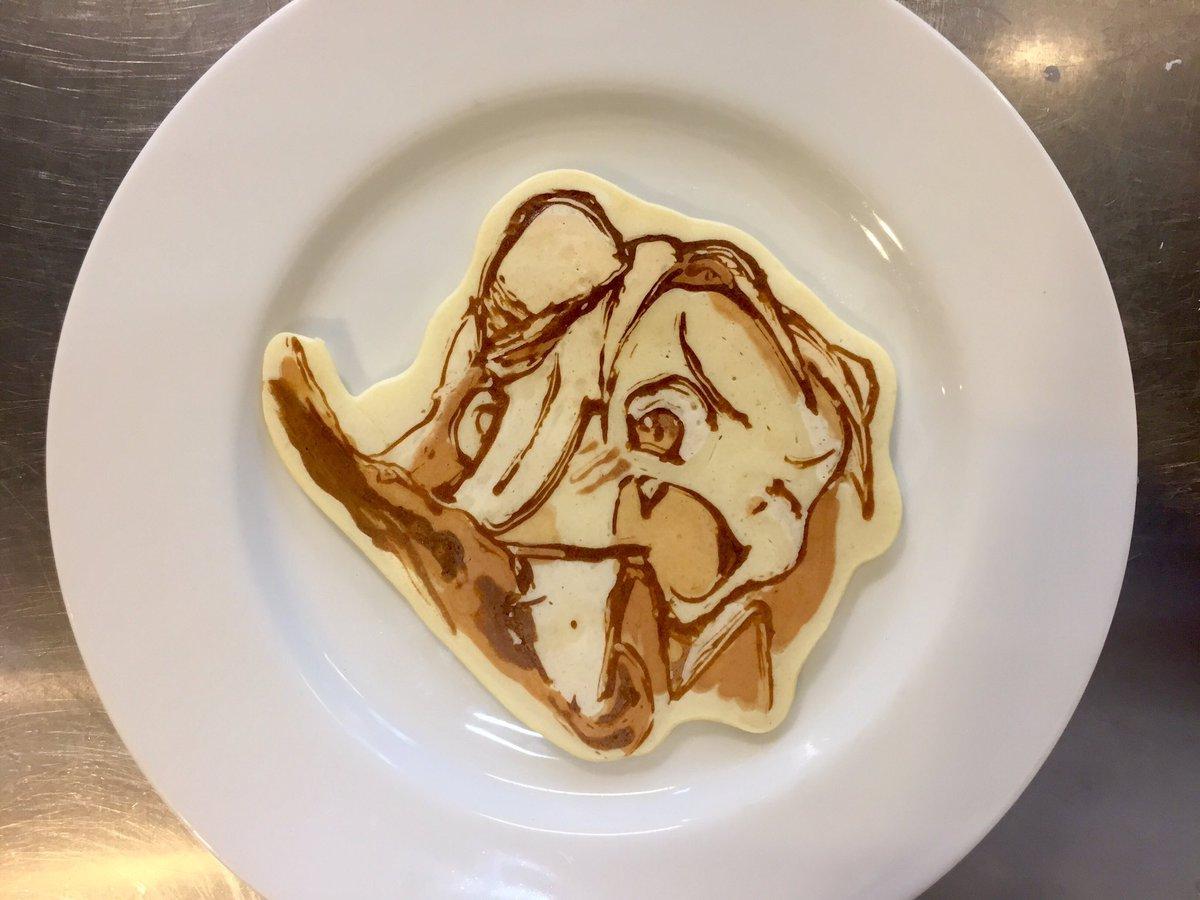 本日のハロウィーン用プチパンケーキアート〜 亜人ちゃんは語りたい 小鳥遊ひかり #パンケーキアート #pancakear