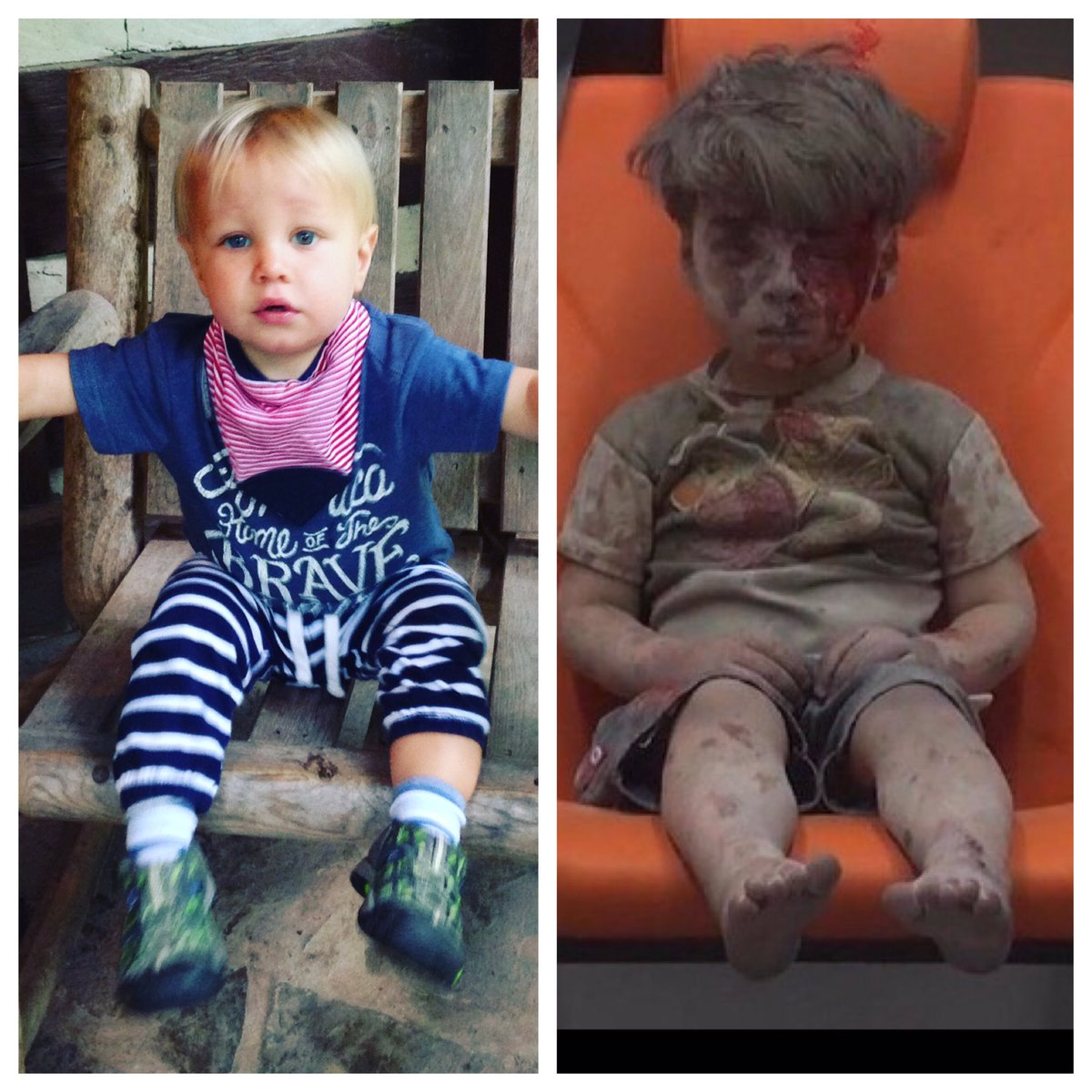 This is my son. And this is my son in Syria. We must act. #StandWithAleppo https://t.co/rpfhpiqD0D