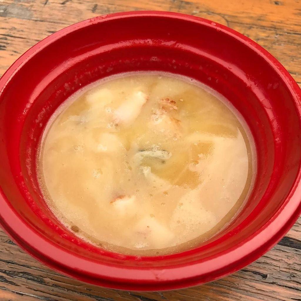 #麺屋翔 さんのつけ麺、日替わりで #割スープ の味が違います!今日は #ホタテミルクスープ でした♪ 旨旨♪ฅ^._.^ฅ #大つけ麺博 https://t.co/vzmNtVsZV7 https://t.co/AyJqNjokv4