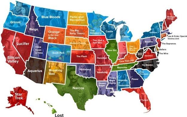 Las series de TV más populares en cada estado USA. Revelador... https://t.co/QSDExeegpB vía @BGR https://t.co/dKE69oiM9Q