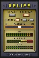 ReLife強くリミッティングされた音声をある程度戻すことが可能なプラグイン。 マスタリング済みの音圧が高いInstにボ