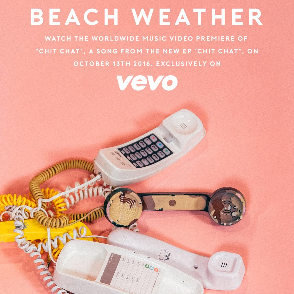 Coming TODAY - the brilliant new @BeachWeather video. #ChitChat