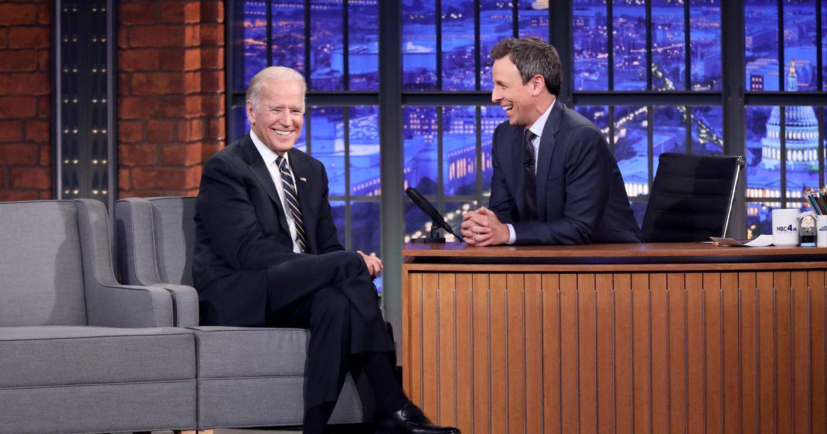 Joe Biden tells Seth Meyers he'd rather debate Sarah Palin than Trump