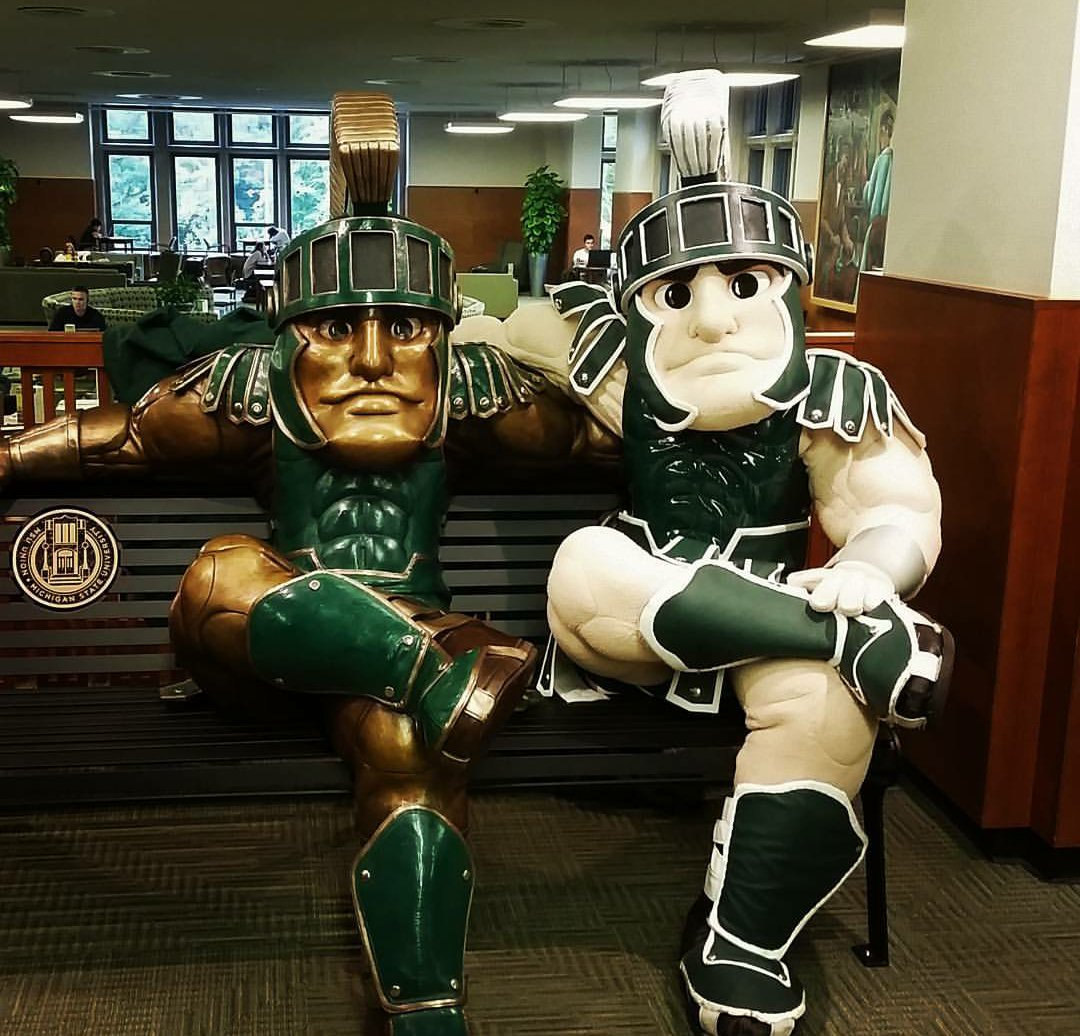 In case you missed the Sparty statue unveiling yesterday! https://t.co/PyzbmjZKCL