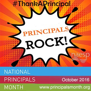 Principals are rockstars. #ThankAPrincipal   It's National Principals Month. https://t.co/3YgG5KrQ2P https://t.co/SRd4W5e29w