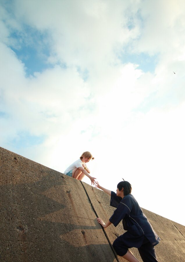 先生も早く来ーいこの壁を越えなきゃ何も見えないぞ!!photo/新さん#ばらかもんin五島#ばらかもん