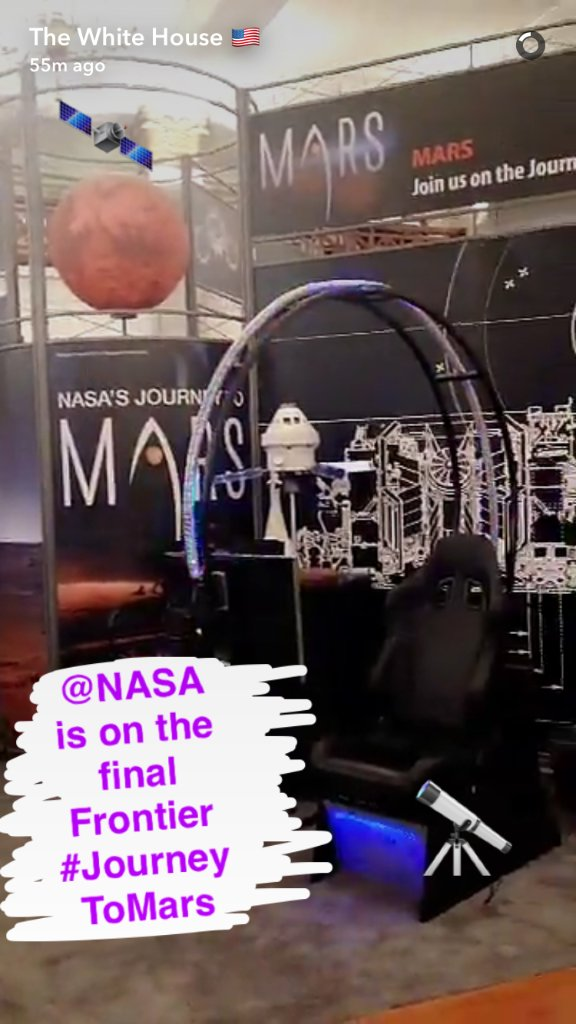 We're on a #JourneyToMars! Check out our @NASAExhibit at the #WHFrontiers Conference on @WhiteHouse Snapchat. https://t.co/kTwQ3eFMDM