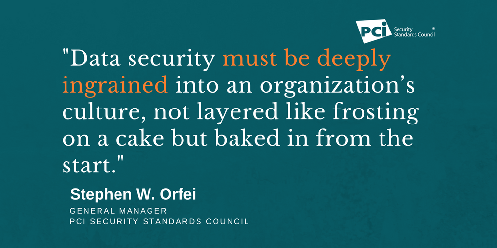 Security is not a project- it needs to be baked into the culture of an organization. #ChatSTC https://t.co/DdrUw41FxV