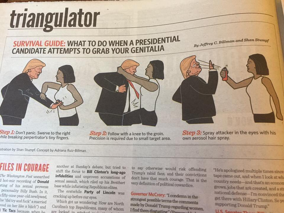 What to do when Presidential candidates attempt to grab your genitalia: https://t.co/xBPMSEd2bV