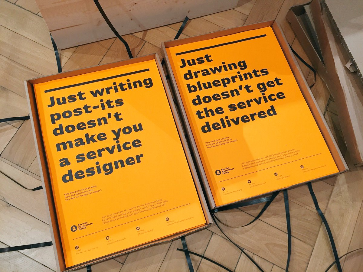 Will have to bring some of these to next week's @ServiceLabLDN meet-up :)  #servicedesign #sxc16 https://t.co/c0lN1aIENK