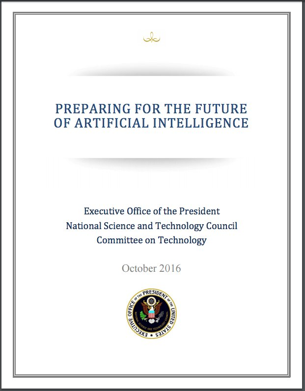 White House Releases Report on the Future of Artificial Intelligence https://t.co/2xk6mfyoA0 https://t.co/E3JdR7qYLm