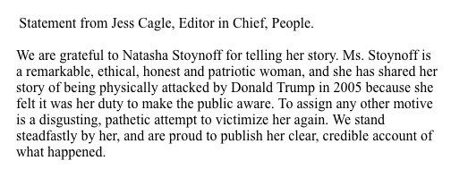 Statement from Jess Cagle, Editor in Chief of PEOPLE (via @jdisis) https://t.co/DQfPOCfaxv