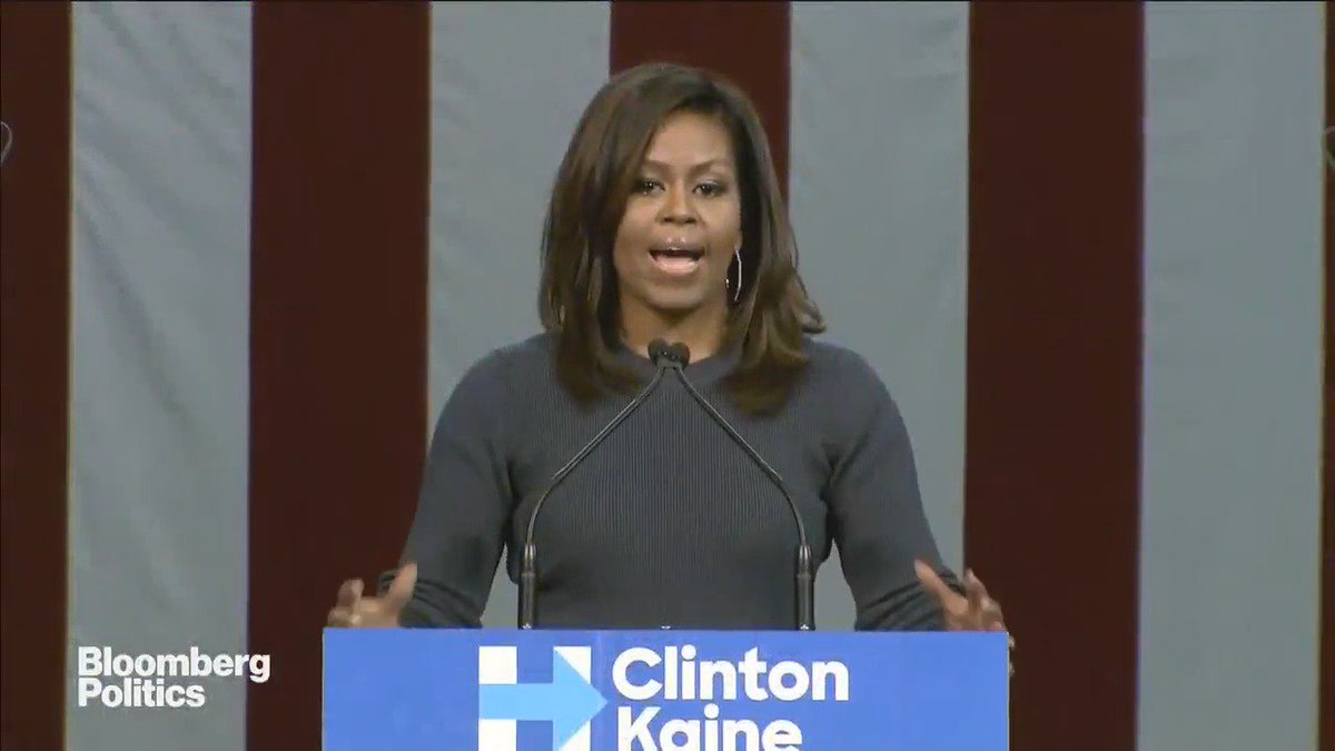 "Michelle Obama delivers an impassioned speech in response to Trump's ""predatory behavior"" https://t.co/KBL0Fjdwhm https://t.co/VxB2eFmA6G"