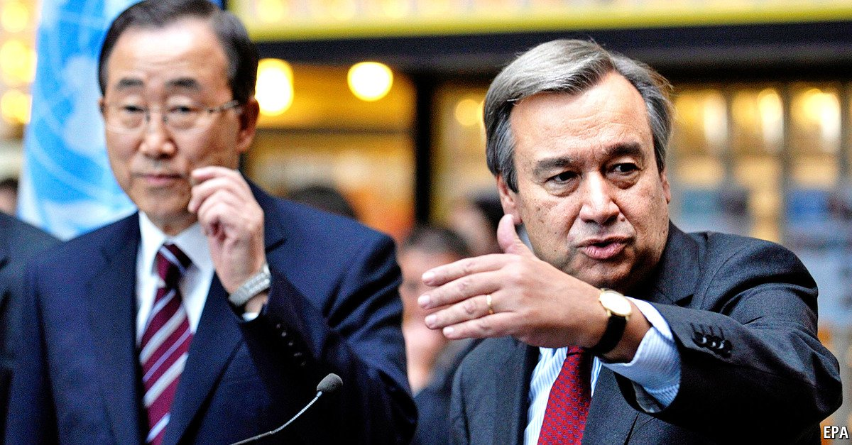 The United Nations appoints António Guterres as the new secretary-general