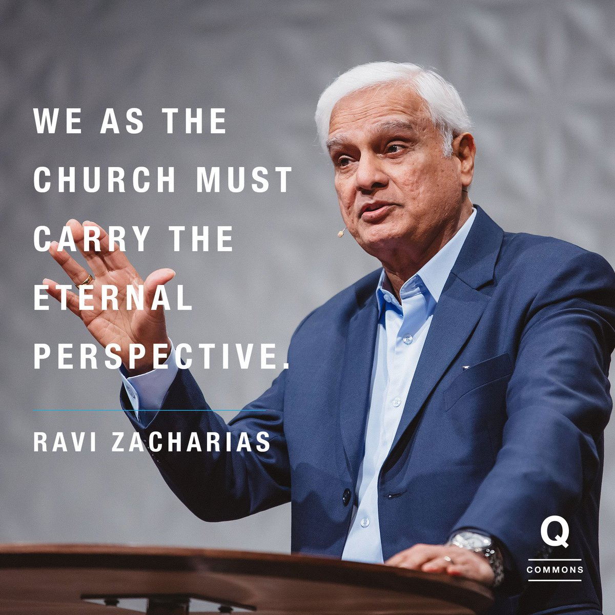 How should we respond when we feel divided? @RaviZacharias at #QCommons https://t.co/Egbz2t2hwy