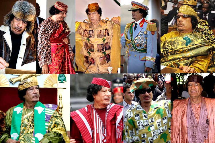 Dear internet, I want to recreate Gaddafi's wardrobe. Looking for a tailor or designer who can make this dream true https://t.co/T5AJYknzHS