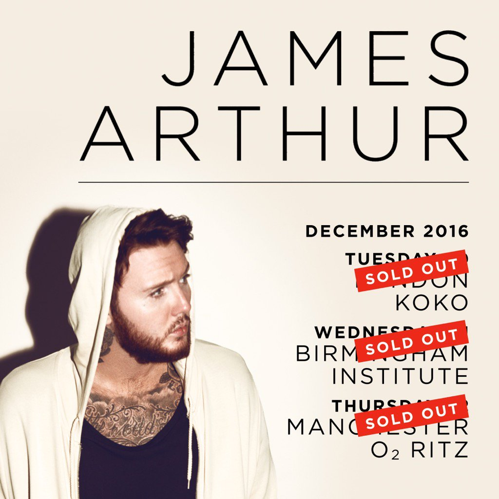 @JamesArthur23 dates sold out in 10 minutes #awesome https://t.co/towY4Whfen