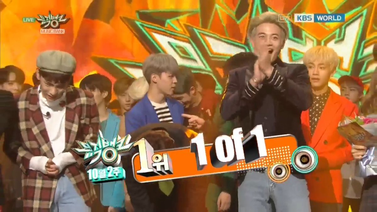 Congratulations SHINee for winning first on Music Bank with '1 of 1' today! We are proud of you! #SHINee1of13rdWin https://t.co/FCJIB2a0hu