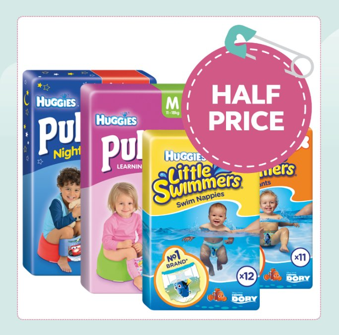 Huggies Nappy range HALF PRICE! https://t.co/fg8kMaa6i8