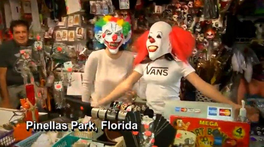 Clown costumes still in big demand for Halloween