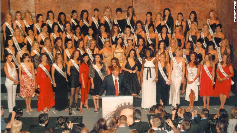 A former Miss USA contestant says Donald Trump inspected each woman before the pageant