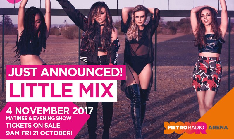 NEWS: #LittleMix are coming to @ArenaNewcastle with the #GloryDaysTour - on sale 9am next Friday! #Newcastle https://t.co/XbPNjWDXZy